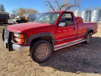 *1996 GMC SL 2500 4x4, VIN# 1GTGK24R2TE530524 Owner: Gervin Stock Farms Seller: Fraser Auction___________ ***TOD, SAFETIED, KEYS***