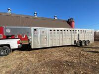 *2012 32' Merritt triple axel aluminum stock trailer, VIN# 1MT5N3232CH021221, Owner: Gervin Stock Farms Seller: Fraser Auction ____________ ***TOD,SAFETY***