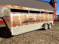 *2001 20' Wilkinson t/a 5th wheel stock trailer, VIN# 2M99272571M140373 Owner: Gervin Stock Farms Seller: Fraser Auction ___________ ***TOD***