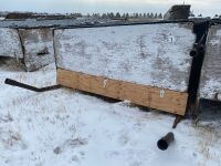 8x24 Calf Hut, drill stem frame w/ tin roof, wood sides