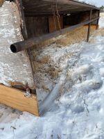 12x24 Calf Hut, drill stem frame w/ tin roof, wood sides