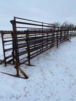 32' Free Standing Panel w/ homemade 12' swing gates