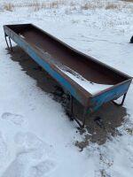 10' metal Blue trough feeder