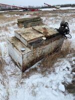 Old skid tank w/ pump
