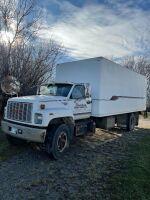 *1993 GMC Top-Kick 6500 s/a truck w/24' cube van body