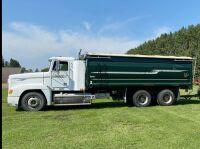 1996 Freightliner FLD120 t/a grain truck, 1,016,081showing, VIN#2FVYDCYB1TA858444, Owner: McPhail Farms LTD Seller: Fraser Auction ________ *TOD, SAFETIED, KEYS* Ltd, Seller: Fraser Auction_______________