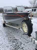 *17' Alumacraft boat with 75HP Mercury, Homemade Boat Trailer (K65) Owner: Rene D Caners Fraser Auction Service ___________ ***KEYS***