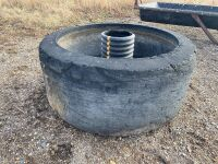 *Inverted tire waterer