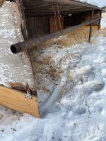 12x24 Calf Hut, drill stem w/ tin roof, wood sides