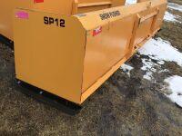 *12' New snow pusher skid steer mount S/N SP1220209343 (K38)