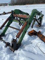 Allied loader w/shop built quick attach attachment mounts