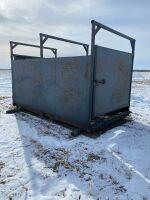 *12'x7' steel cattle scale w/wooden floor, load sensors, NO SCALE HEAD