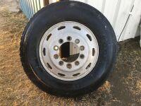 *11R24.5 tire & rim (fits Freightliner)