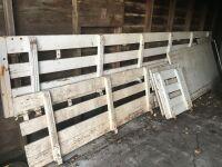 *14' truck Stock Racks w/sliding rear door