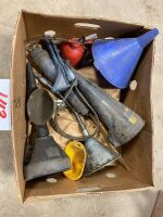 *funnels - assorted funnels & oil can
