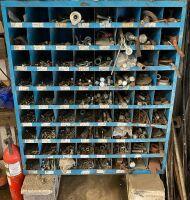 *72 compartment metal bolt bin loaded