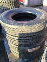 *11R22.5 H16 Mirage MG111 5 Rib Trailer Tire (K50) Lot EEE