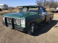 *1975 Chevrolet Custom Deluxe 30 truck 1 ton w/8' flat deck, 03,616 miles showing,VIN# CCY3351155994 (K75) Owner: Kelly K Vandoorne Seller: Fraser Auction_______, *** TOD,Keys & TOD***