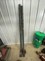 2 steel Tele-posts