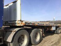 *K83 – 1973 Freuehauf flatdeck semi trailer, s/n DXR40615 Owner: Donald J McCullagh Seller: Fraser Auction__________ ***TOD, KEYS***