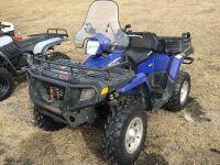 *2007 Polaris Sportsman X2 500 EFI 4x4, Blue, VIN#4XATN50A27A210177 Owner: Donald E Smith Seller: Fraser Auction ___________, *** keys***
