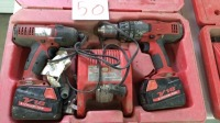 (2) Milwaukee drills with charger and case