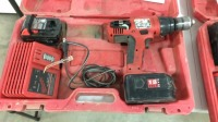 Milwaukee drill with batteries and charger