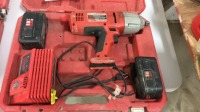 """1/2"""" Milwaukee impact wrench with case and batteries"""