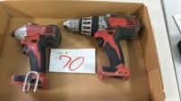 Milwaukee drill and impact driver