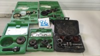 Assorted punch kits and holesaw kits
