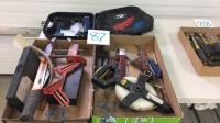 Assorted knives measuring tape beard trimmer kit