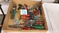 Assorted pliers & tin snips
