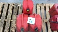 3 Red fuel jugs