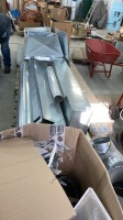 4 Pallets of metal ductwork