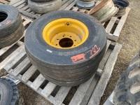 *11L-15 imp tire on rim (like new) (K31)