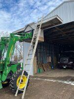 Shop built work platform scaffold & ladder