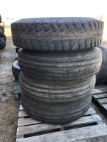 *10.00-20 Front Tractor tires on 8 bolt rims (K51)