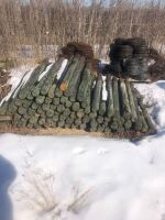 """used 4""""-5"""" x 6' fence post"""