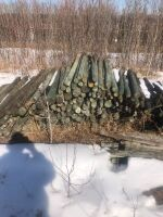 """used 2""""-4"""" x 6' fence post"""