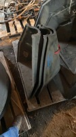 Three small Poly auger hoppers Fair condition
