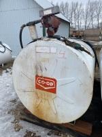 *500-gal Westeel fuel tank w/Tuthill 115-volt pump, filter, hose & nozzle