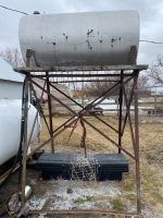 *300-gal fuel tank on metal stand