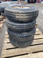 8-14.4 trailer tire on rim