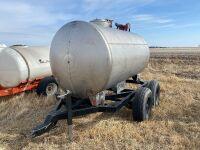 *800-gal S/S fuel tank on 4-wheel wagon w/20gpm 12-volt pump
