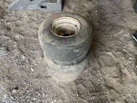 *(3) 18x8.50-8 tires on rims
