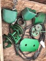 Assorted JD combine parts