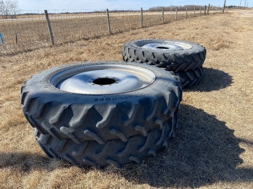 *(4) 380/90R46 Goodyearin-crop tires on rims for Patriot sprayer
