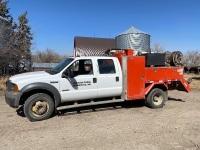 *2005 Ford F-550 4x4 dsl 4-door truck 256,790showing, 7136hrs showing, VIN #1FDAW57P15EC95473,Owner: 3694306 MB LTD, Seller: Fraser Auction___________________ *** TOD, SAFETIED & KEYS***
