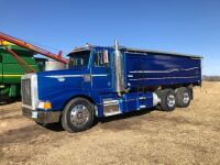 *1996 Peterbilt 377 T/A Grain Truck, 1,353,671kms showing, VIN#1XPCD99XOTN416870, Owner: Lourie R Woodhouse, Seller: Fraser Auction_________________ ***TOD & SAFETIED***