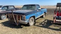 1986 GMC Wrangler 1500 4x4 Truck, _____________ showing, vin- 2GTDC14H9G1543151, Owner: J & M Farms Ltd Seller: Fraser Auction _________________
